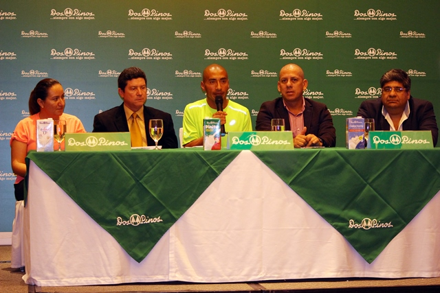 José Amado García durante la conferencia de prensa donde habló de su clasificación a Rio 2016. (Foto Prensa Libre: Eduardo González)