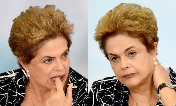 Dilma Rousseff se muestra preocupada durante una ceremonia en Brasilia.(AFP).