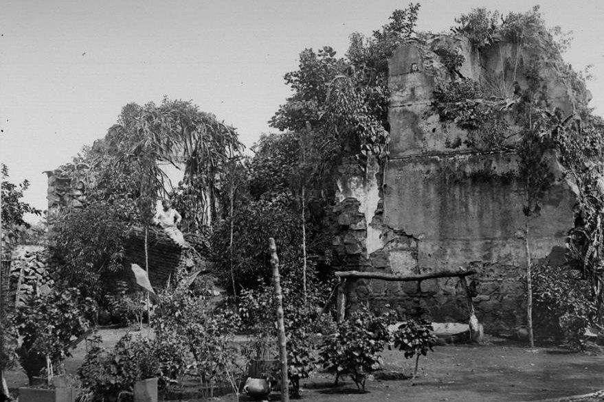 Restos del Convento de Santo Domingo a finales del siglo XIX (Foto: CIRMA)