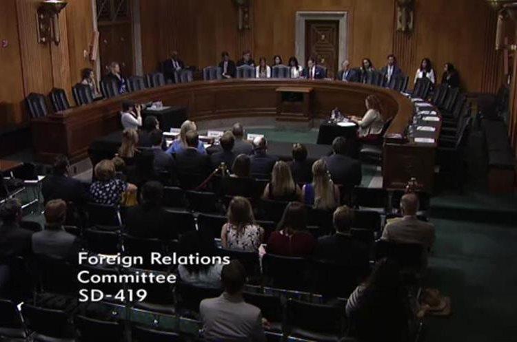 Luis Arreaga se presentó ante el Senado para ser confirmado como embajador de Estados Unidos en Guatemala. (Foto Prensa Libre: Embajada EE.UU.)