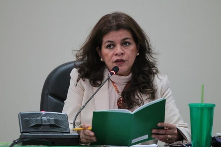 Jueza Carol Patricia durante una audiencia en el juzgado A de mayor riesgo. (Foto Prensa Libre: Paulo Raquec)