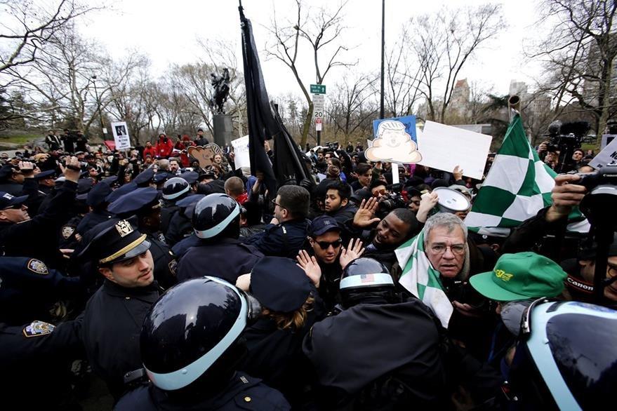 Nueva York es escenario de protestas contra Trump. (AFP)