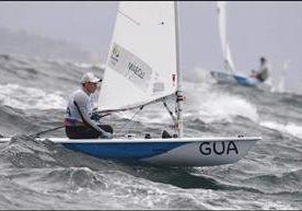 El velerista nacional se clasificó a la final en clase láser.