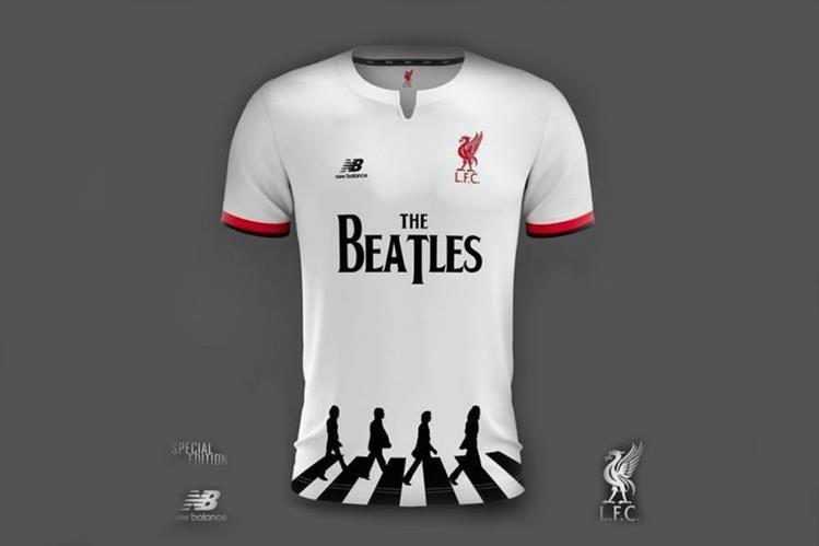 Conocé la genial camiseta del Liverpool en homenaje a Los Beatles