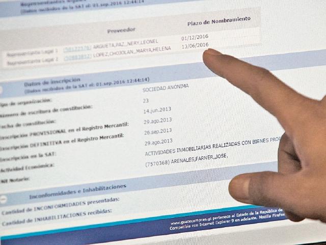 Para búsqueda de proveedores se ampliaron las opciones en Guatecompras, la base de datos es de la SAT.