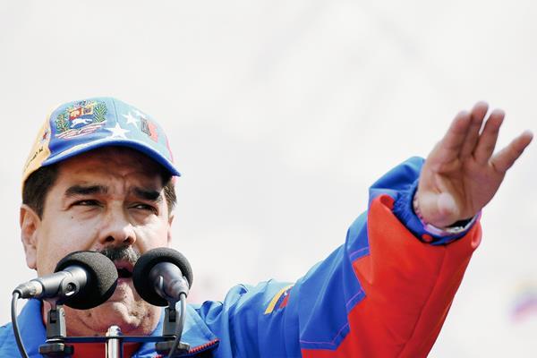 Maduro culpó a EE. UU. de estar involucrado en el plan para matarlo. (Foto Prensa Libre: AFP).