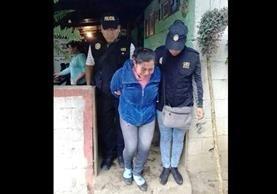 Rosa Miriam Galicia Figueroa, madre de la niña víctima. (Foto Prensa Libre: PNC).