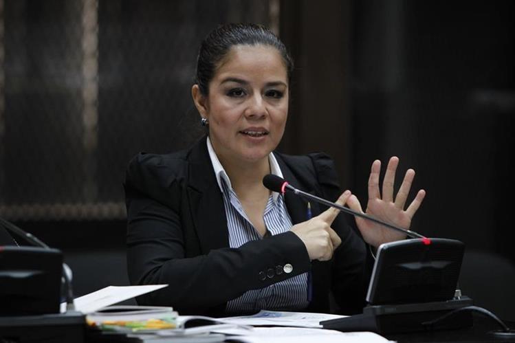 Claudia Méndez, exintendente de aduanas, durante la audiencia de primera declaración. (Foto Prensa Libre: Hemeroteca PL)