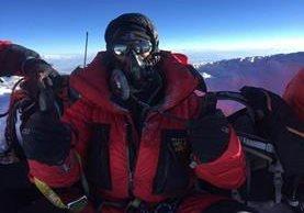 César Vásquez ascendió a la cumbre del Monte Éverest el pasado 25 de mayo. (Foto Prensa Libre: cortesía César Vásquez)