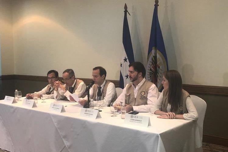 Misión de la OEA dio el lunes su informe preliminar sobre las elecciones en Honduras. (Foto Prensa Libre: OEA).