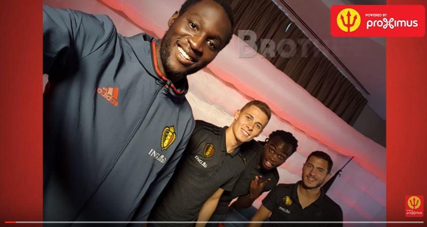 Los hermanos Lukaku y Hazard compartieron para con el departamento de prensa de la selección belga. (Foto Prensa Libre: Selección de Bélgica)