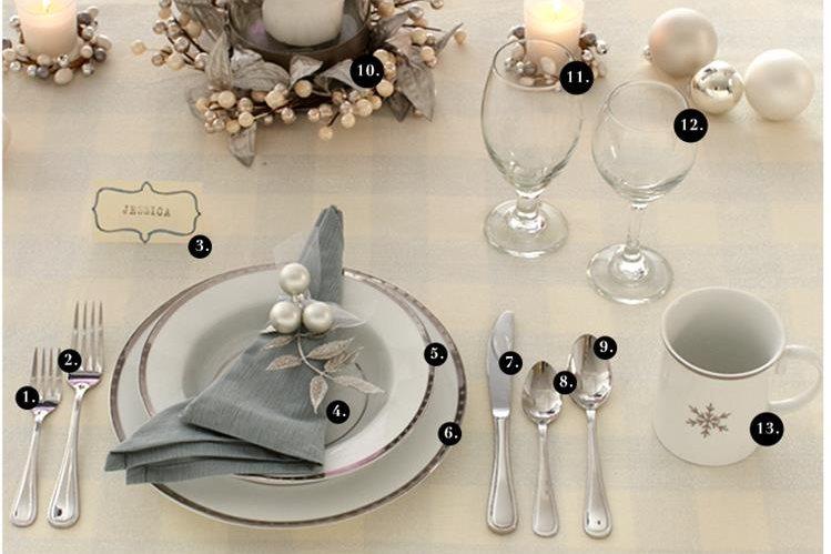 La etiqueta en la mesa no es complicada, pero hay que saber cómo utilizar la cristalería, y cada plato y cubierto.
