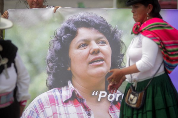 Berta Cáceres, ambientalista y activista hondureña, asesinada el 3 de marzo.(EFE).