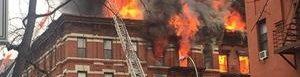 Edificio incendiado.