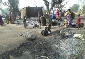 El ataque ocurrió en la localidad de Dalori, cerca de la ciudad de Maiduguri, capital del estado de Borno. (Foto Prensa Libre: EFE).