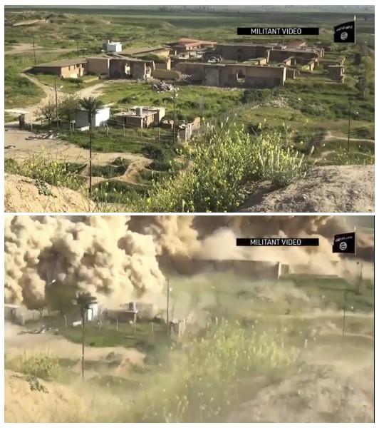 Video muestra la ciudad de Nimrud  un antes y después de ser destruida por el EI. (AP).