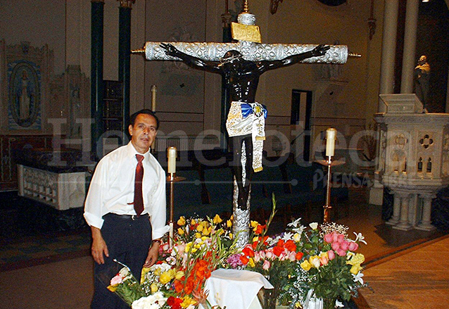 Cristo Negro venerado en Nueva York, Estados Unidos. (Foto: Hemeroteca PL)