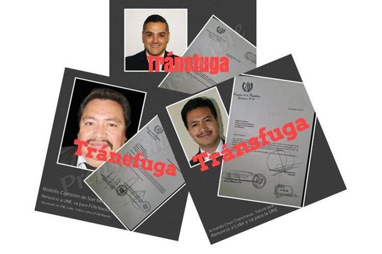 Tres diputados renunciaron a la bancada en donde estaban adscritos y se unieron a otra. (Foto Prensa Libre: Jessica Gramajo)