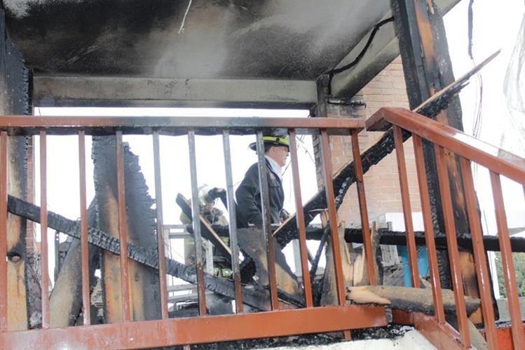 Lugar donde ocurrió el siniestro en la zona 1 de Quetzaltenango. (Foto Prensa Libre: María José Longo).