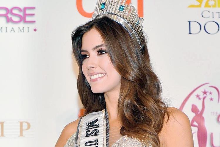 Miss Universo Paulina Vega afirma que no se separará de la corona, por las declaraciones de Trump. (Foto Prensa Libre: Hemeroteca PL)