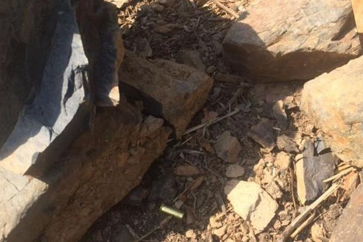 Lugar donde fueron localizados los dos cadáveres, en Huehuetenango. (Foto Prensa Libre: Cortesía).