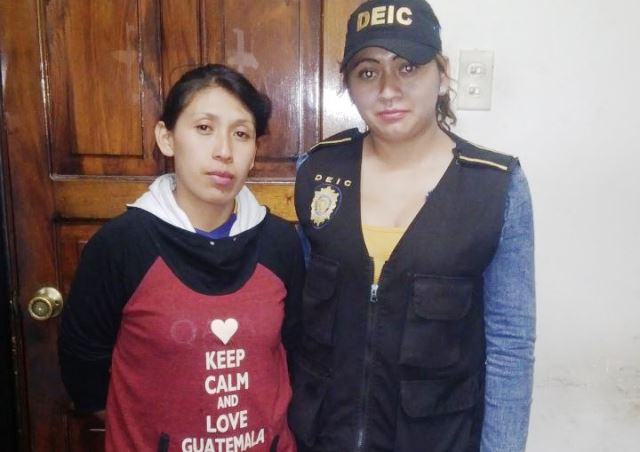 María Victoria Cho Aspuac, de 29 años, es señalada del la muerte de Mayra López López, de 18, hallada muerta el sábado último. (Foto Prensa Libre: Cortesía PNC)