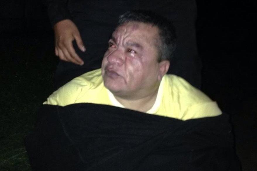 Contreras Chávez intentó evadir el arresto pero fue copado por la PNC. (Foto Prensa Libre: Cortesía PNC)