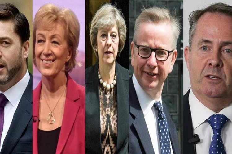 Cinco contendientes buscan convertirse en el próximo primer ministro británico. (AFP).