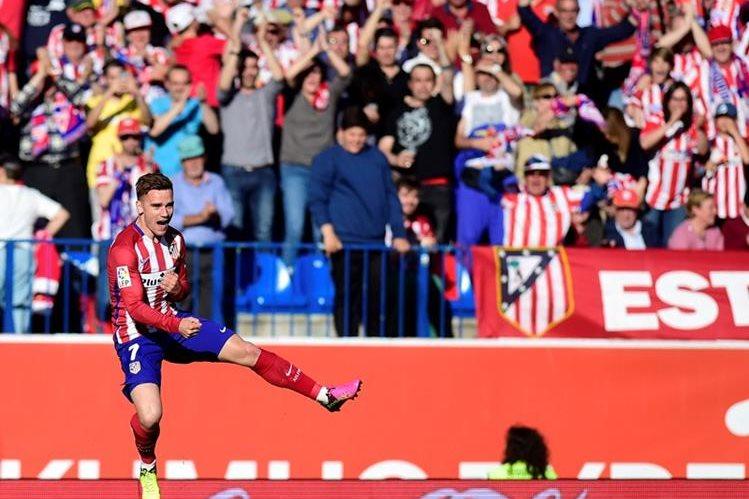 Griezmann dio los tres puntos importantes al Atlético. (Foto Prensa Libre: AFP)