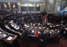 Sesión plenaria del jueves recién pasado, donde los diputados aprobaron el presupuesto de ese organismo. (Foto Prensa Libre: Hemeroteca PL)
