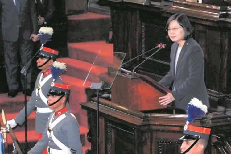 La presidenta de China-Taiwán Tsai Ing-Wen estuvo en Guatemala en enero de este año en una visita oficial. (Foto Prensa LIbre: Hemeroteca PL)