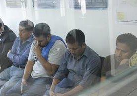 De izquierda a derecha, el exjefe edil de San José Poaquil, José Quill Salanic, Abner Xalil Tohon, Juan Macú Ajsivinac y Jairo Morales Cutzal. (Foto Prensa Libre: Víctor Chamalé)