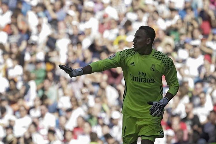Keylor Navas sufrió una lesión que le ha costado superar. (Foto Prensa Libre: EFE)
