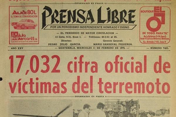 Publicaciones de Prensa Libre sobre el terremoto del 4 de febrero de 1976. (Hemeroteca PL)
