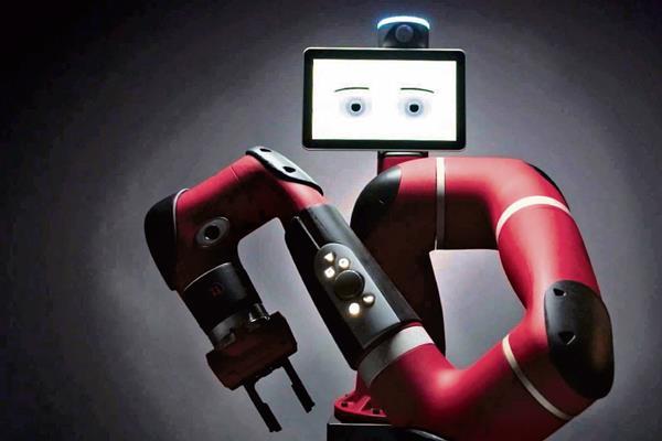 Brazo robótico incluye una pantalla que funciona como rostro.
