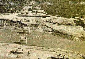 Vista aérea de una de las entradas del túnel de la hidroeléctrica de Chixoy. (Foto: Hemeroteca PL)