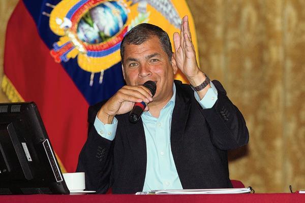 El presidente de Ecuador, Rafael Correa, busca gravar las herencias. (Hemeroteca PL)