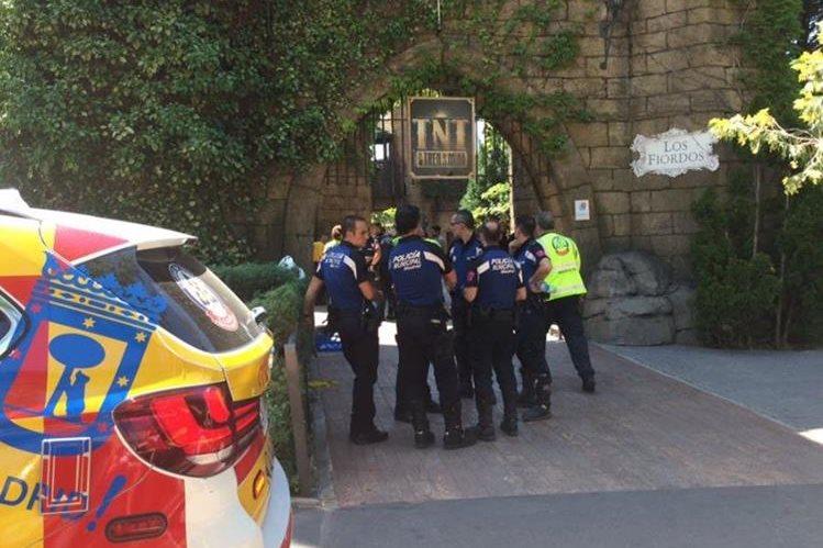 El incidente ocurrió en el parque Tren dela Mina, en Madrid. (Foto Prensa Libre: @EmergenciasMad)