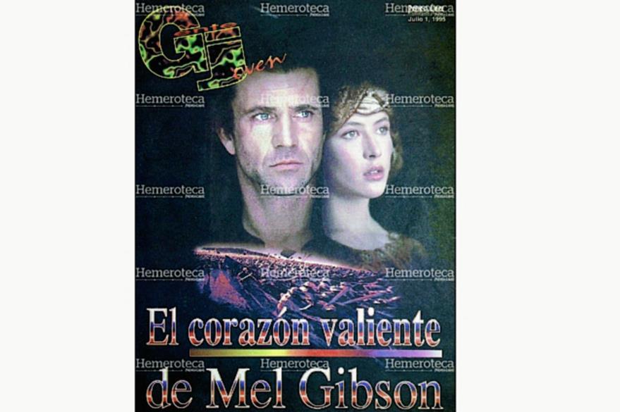 Mel Gibson era uno de los actores más cotizados en  1995. (Foto: Hemeroteca PL)
