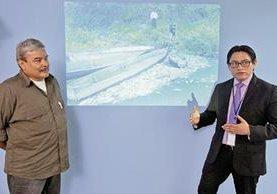 Julio González y Fredy Chiroy, durante el programa Diálogo Libre.