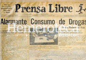 Primera portada de Prensa Libre del 20/08/1951. (Foto: Hemeroteca PL)