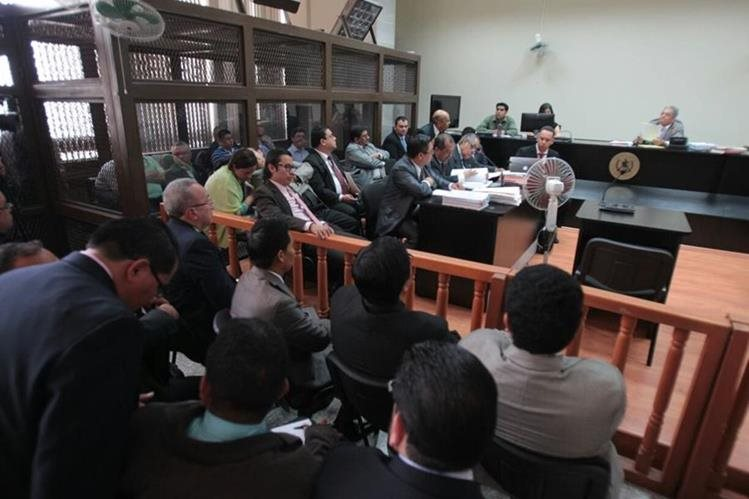 El juzgado B de Mayor Riesgo tiene a su cargo la audiencia. (Foto Prensa Libre: Paulo Raquec)