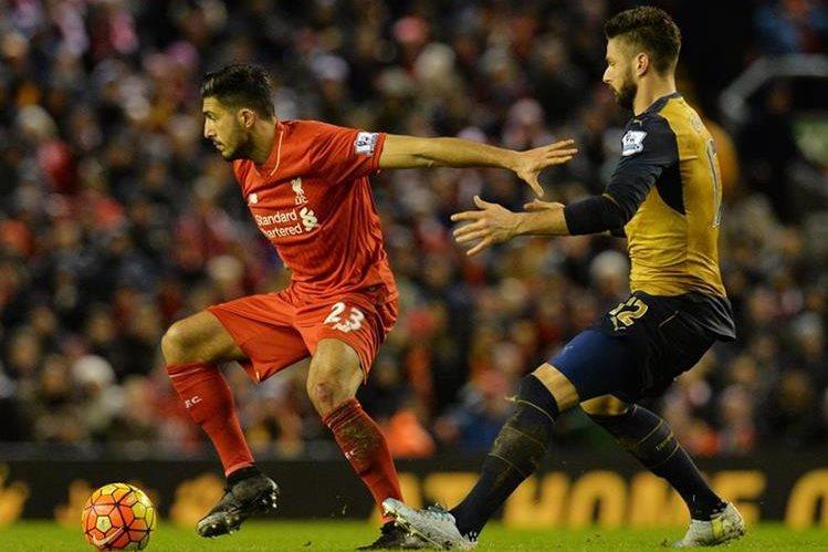 El Arsenal dejó escapar la victoria contra el Liverpool. (Foto Prensa Libre: AFP)