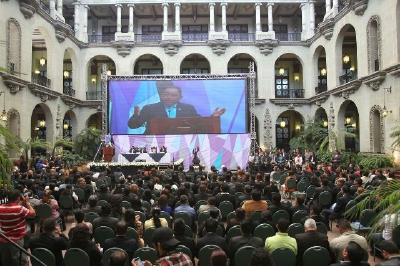 Mauricio López  Bonilla presenta la Política Nacional de Reforma Penitenciaria 2014-2024, en el Palacio Nacional.