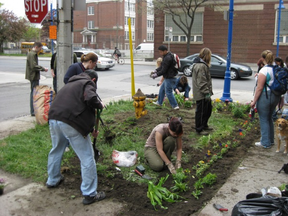 Espacios públicos también son usados para sembrar. (Foto Prensa Libre: Google)