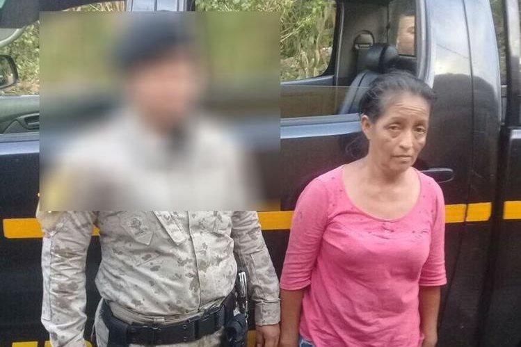 Esperanza Miranda fue detenida por la Policía: (Foto Prensa Libre: Mingob)