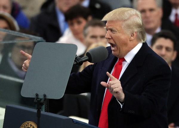 Donald Trump da su discurso inaugural en el frente del capitolio de los EE.UU.(AFP).