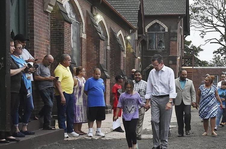La guatemalteca se encuentra refugiada en la Iglesia de Dios Pentecostal en New Haven, Connecticut. (Foto Prensa Libre: AP)
