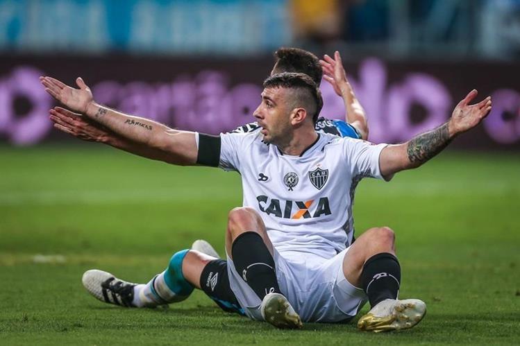 Lucas Pratto, defendía los colores del Atlético Mineiro. (Foto Prensa Libre: Hemeroteca PL)