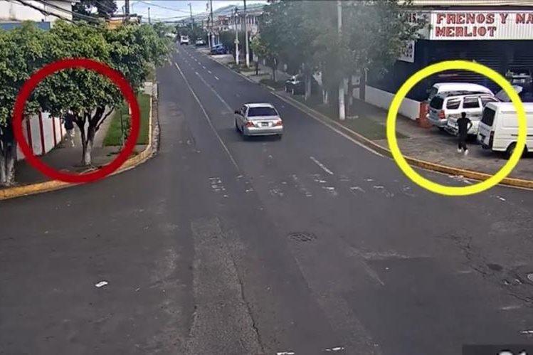 Imagen de la persecución de los dos asaltantes en Santa Tecla, El Salvador. (Foto Prensa Libre: Alcaldía de Santa Tecla).